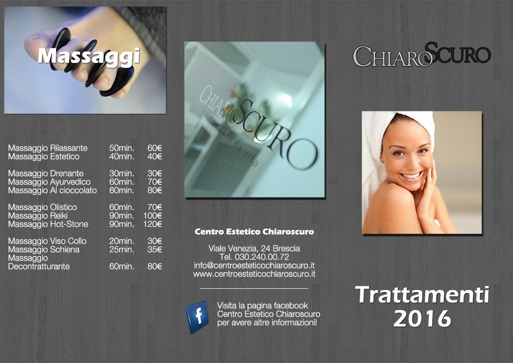 Listino Prezzi Centro Estetico 2016 Fronte